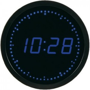 Horloge a led bleu